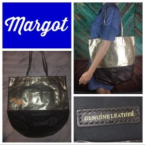 Margot Embossed Metallic Leather Tote